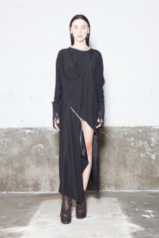 Txell Miras FW19-V41 black dress (2)