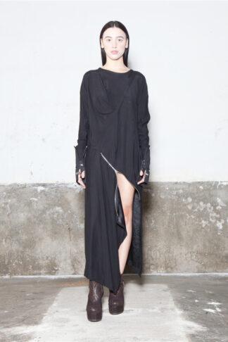 Txell Miras FW19-V41 black dress (2)