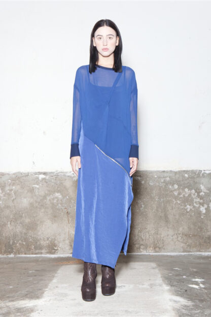 Txell Miras FW19-V41 blue long dress