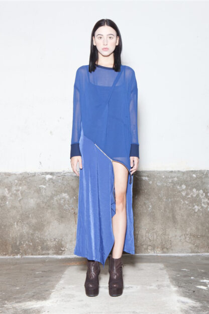 Txell Miras FW19-V41 blue long dress (2)